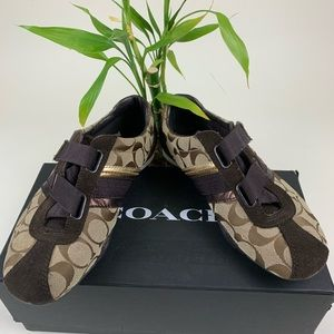 Coach Sneakers- Velcro- Size 6.